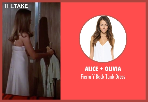 Alice + Olivia white dress from The Spy Who Loved Me seen with Barbara Bach (Major Anya Amasova / Agent XXX)
