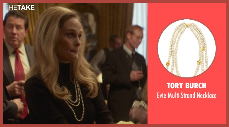 Tory Burch white necklace from That Awkward Moment seen with Barbara Garrick (Chelsea's Mother)