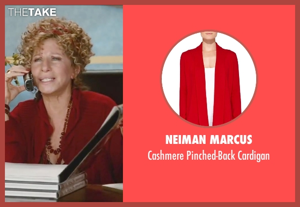 Neiman Marcus	 red cardigan from Little Fockers seen with Barbra Streisand (Roz Focker)