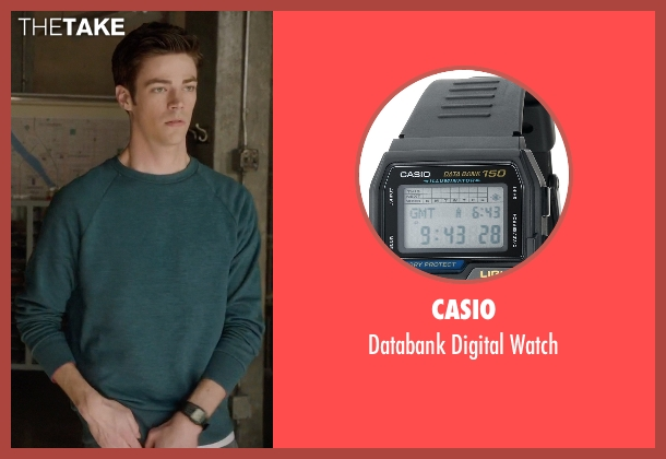Casio black watch from Arrow seen with Barry Allen / The Flash / Bartholomew Allen (Grant Gustin)