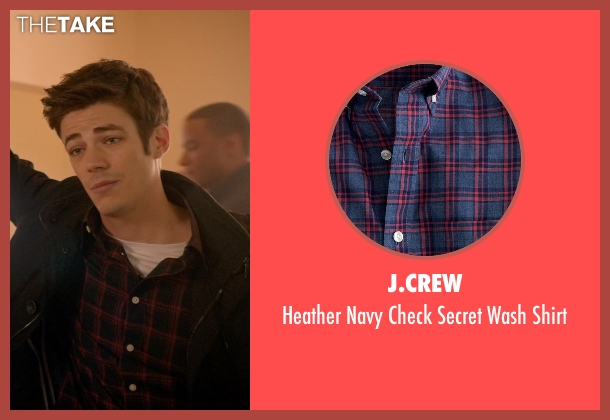 J.Crew blue shirt from Arrow seen with Barry Allen / The Flash / Bartholomew Allen (Grant Gustin)