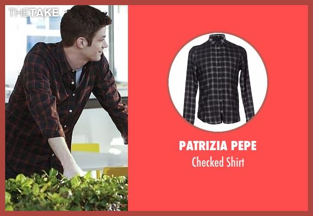 Patrizia Pepe black shirt from Supergirl seen with Barry Allen / The Flash / Bartholomew Allen (Grant Gustin)