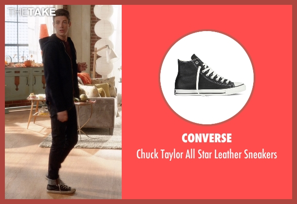 Converse black sneakers from Supergirl seen with Barry Allen / The Flash / Bartholomew Allen (Grant Gustin)