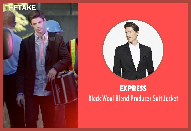 Express black jacket from The Flash seen with Barry Allen / The Flash / Bartholomew Allen (Grant Gustin)