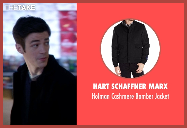 Hart Schaffner Marx black jacket from The Flash seen with Barry Allen / The Flash / Bartholomew Allen (Grant Gustin)