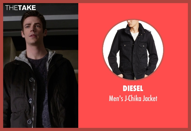 Diesel black jacket from The Flash seen with Barry Allen / The Flash / Bartholomew Allen (Grant Gustin)