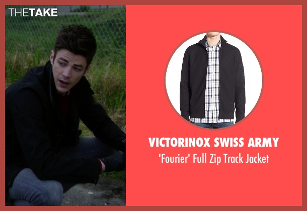 Victorinox Swiss Army black jacket from The Flash seen with Barry Allen / The Flash / Bartholomew Allen (Grant Gustin)