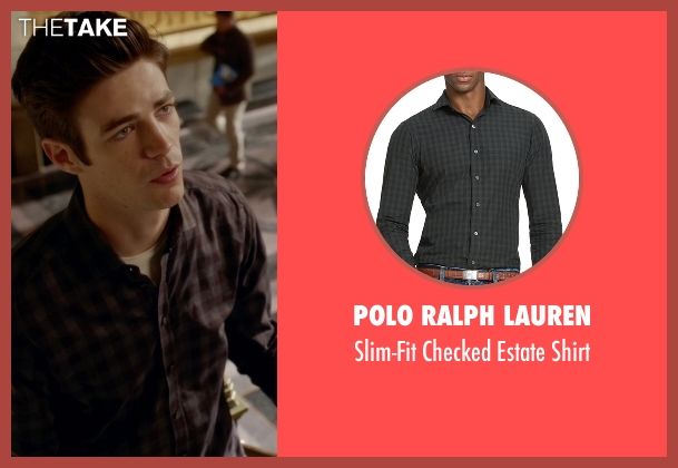 Polo Ralph Lauren black shirt from The Flash seen with Barry Allen / The Flash / Bartholomew Allen (Grant Gustin)