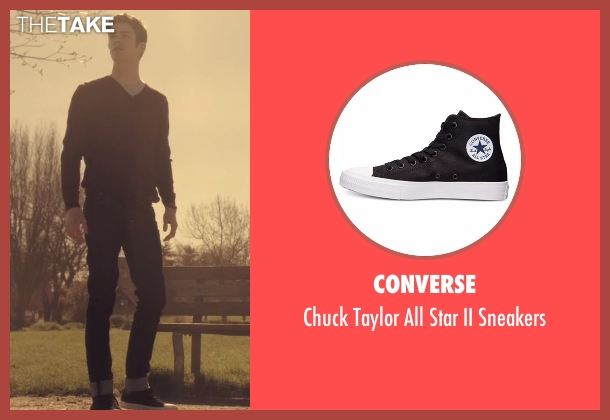 Converse black sneakers from The Flash seen with Barry Allen / The Flash / Bartholomew Allen (Grant Gustin)