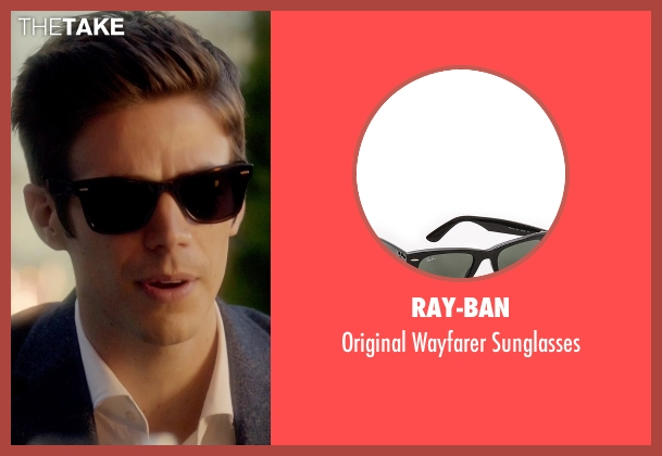 Ray-Ban black sunglasses from The Flash seen with Barry Allen / The Flash / Bartholomew Allen (Grant Gustin)