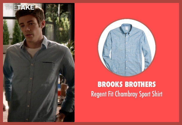 Brooks Brothers blue shirt from The Flash seen with Barry Allen / The Flash / Bartholomew Allen (Grant Gustin)