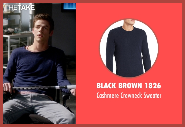 Black Brown 1826 blue sweater from The Flash seen with Barry Allen / The Flash / Bartholomew Allen (Grant Gustin)