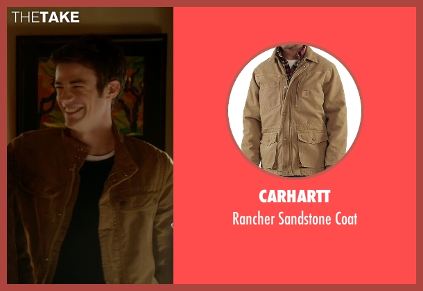Carhartt brown coat from The Flash seen with Barry Allen / The Flash / Bartholomew Allen (Grant Gustin)