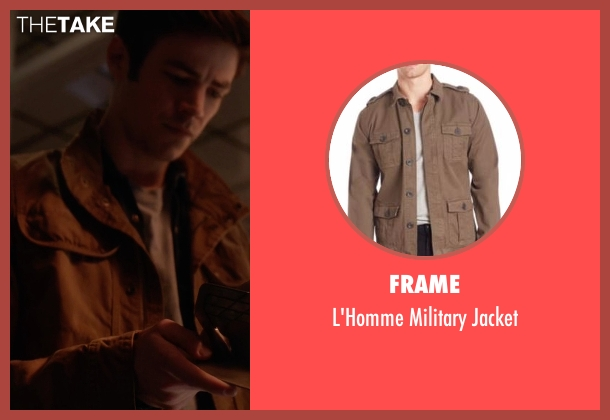 Frame brown jacket from The Flash seen with Barry Allen / The Flash / Bartholomew Allen (Grant Gustin)