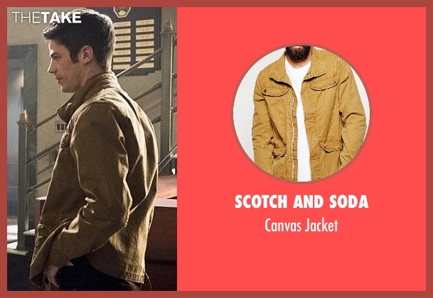 Scotch And Soda brown jacket from The Flash seen with Barry Allen / The Flash / Bartholomew Allen (Grant Gustin)