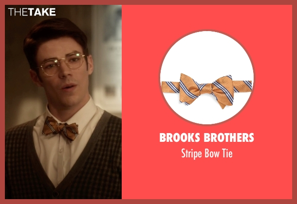 Brooks Brothers gold tie from The Flash seen with Barry Allen / The Flash / Bartholomew Allen (Grant Gustin)
