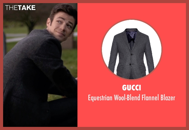 Gucci gray blazer from The Flash seen with Barry Allen / The Flash / Bartholomew Allen (Grant Gustin)