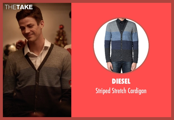 Diesel gray cardigan from The Flash seen with Barry Allen / The Flash / Bartholomew Allen (Grant Gustin)