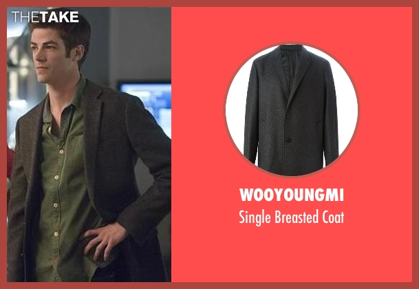 Wooyoungmi gray coat from The Flash seen with Barry Allen / The Flash / Bartholomew Allen (Grant Gustin)