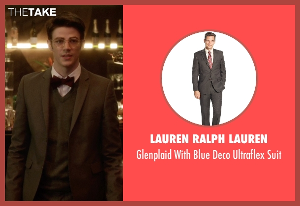 Lauren Ralph Lauren gray suit from The Flash seen with Barry Allen / The Flash / Bartholomew Allen (Grant Gustin)