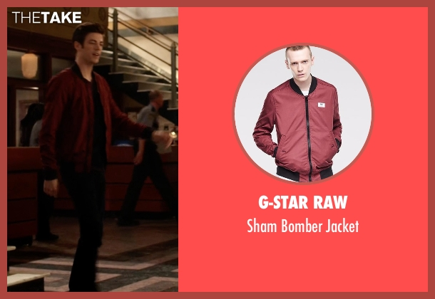 G-Star Raw red jacket from The Flash seen with Barry Allen / The Flash / Bartholomew Allen (Grant Gustin)