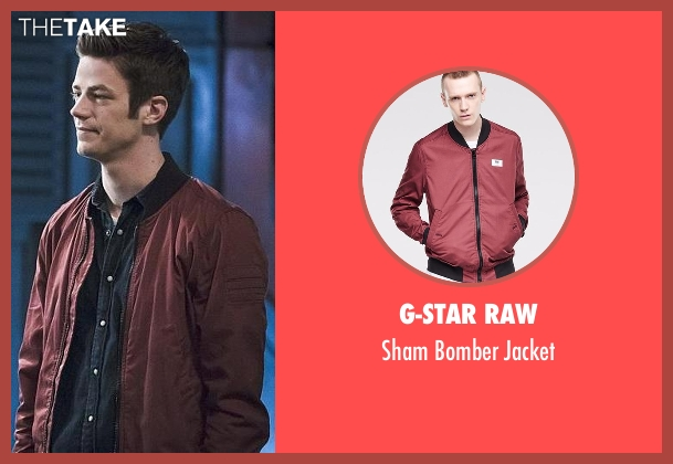 G-Star red jacket from The Flash seen with Barry Allen / The Flash / Bartholomew Allen (Grant Gustin)