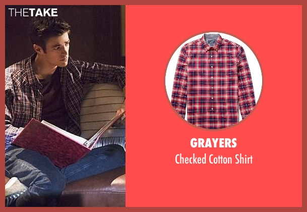 Grayers red shirt from The Flash seen with Barry Allen / The Flash / Bartholomew Allen (Grant Gustin)