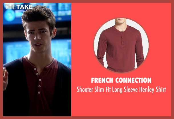 French Connection red shirt from The Flash seen with Barry Allen / The Flash / Bartholomew Allen (Grant Gustin)
