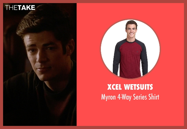 Xcel Wetsuits red shirt from The Flash seen with Barry Allen / The Flash / Bartholomew Allen (Grant Gustin)