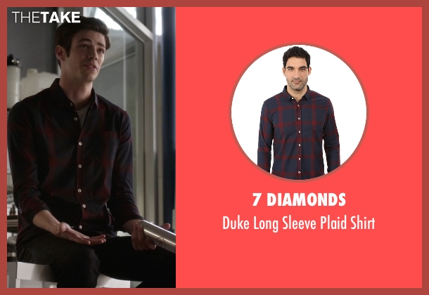 7 Diamonds red shirt from The Flash seen with Barry Allen / The Flash / Bartholomew Allen (Grant Gustin)