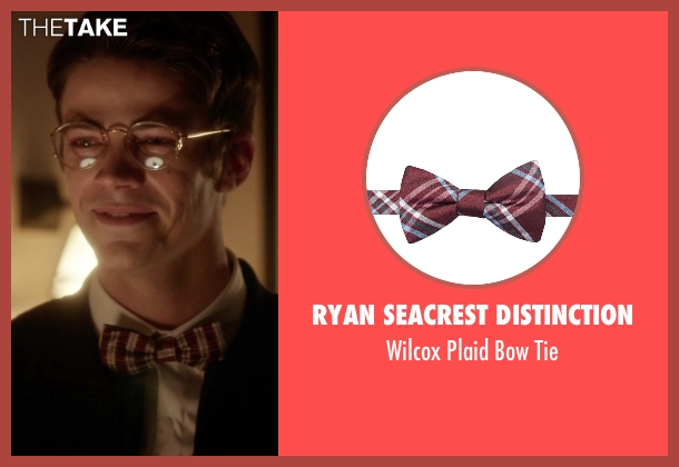 Ryan Seacrest Distinction red tie from The Flash seen with Barry Allen / The Flash / Bartholomew Allen (Grant Gustin)