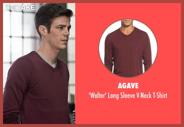 Agave red t-shirt from The Flash seen with Barry Allen / The Flash / Bartholomew Allen (Grant Gustin)