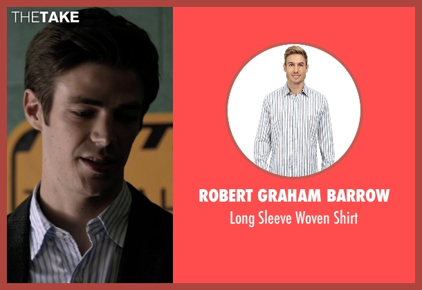 Robert Graham Barrow white shirt from The Flash seen with Barry Allen / The Flash / Bartholomew Allen (Grant Gustin)