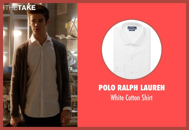 Polo Ralph Lauren white shirt from The Flash seen with Barry Allen / The Flash / Bartholomew Allen (Grant Gustin)