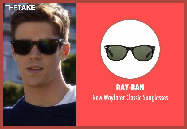 Ray-Ban black sunglasses from The Flash seen with Barry Allen / The Flash (Grant Gustin)