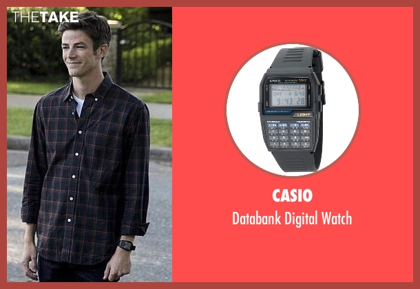 Casio black watch from The Flash seen with Barry Allen / The Flash (Grant Gustin)