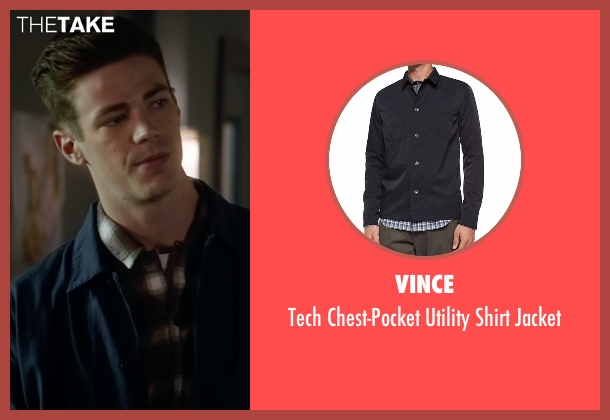 Vince blue jacket from The Flash seen with Barry Allen / The Flash (Grant Gustin)