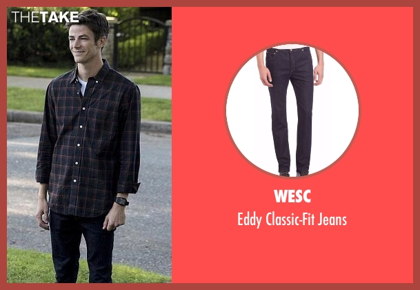 WeSC blue jeans from The Flash seen with Barry Allen / The Flash (Grant Gustin)