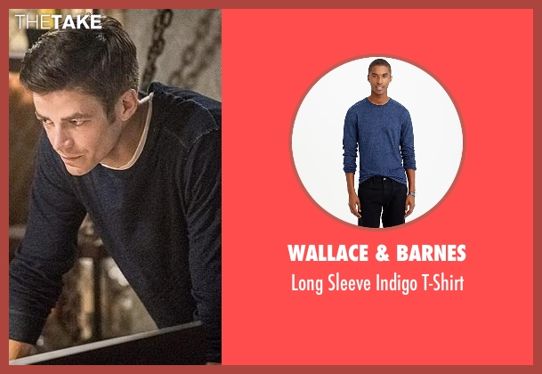 Wallace & Barnes blue t-shirt from The Flash seen with Barry Allen / The Flash (Grant Gustin)