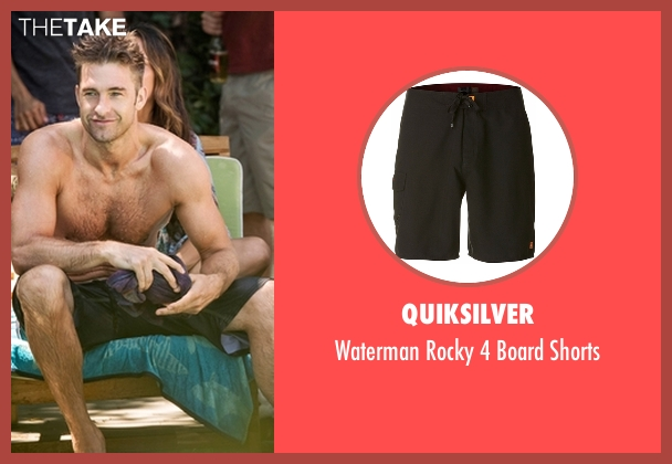 Quiksilver black shorts from Animal Kingdom seen with Barry 'Baz' Brown (Scott Speedman)