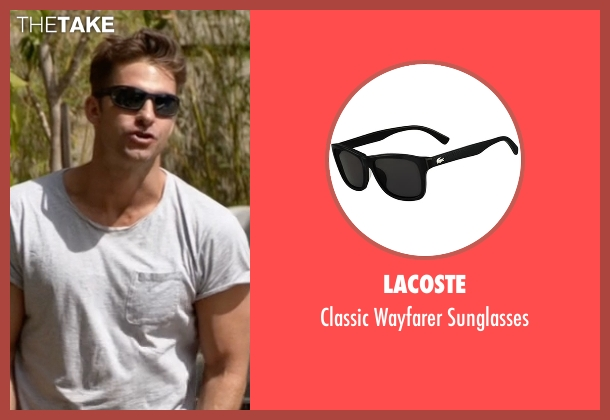 Lacoste black sunglasses from Animal Kingdom seen with Barry 'Baz' Brown (Scott Speedman)