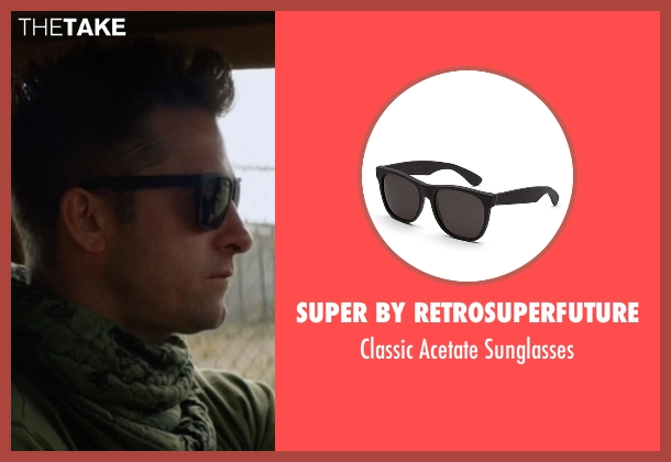 Super by Retrosuperfuture  black sunglasses from Animal Kingdom seen with Barry 'Baz' Brown (Scott Speedman)