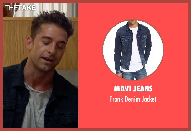 Calvin Klein Jeans  blue jacket from Animal Kingdom seen with Barry 'Baz' Brown (Scott Speedman)