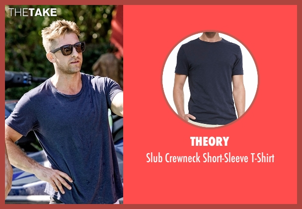 Theory blue t-shirt from Animal Kingdom seen with Barry 'Baz' Brown (Scott Speedman)