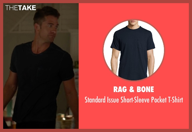 Rag & Bone blue t-shirt from Animal Kingdom seen with Barry 'Baz' Brown (Scott Speedman)
