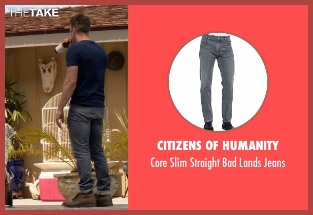 Citizens of Humanity gray jeans from Animal Kingdom seen with Barry 'Baz' Brown (Scott Speedman)