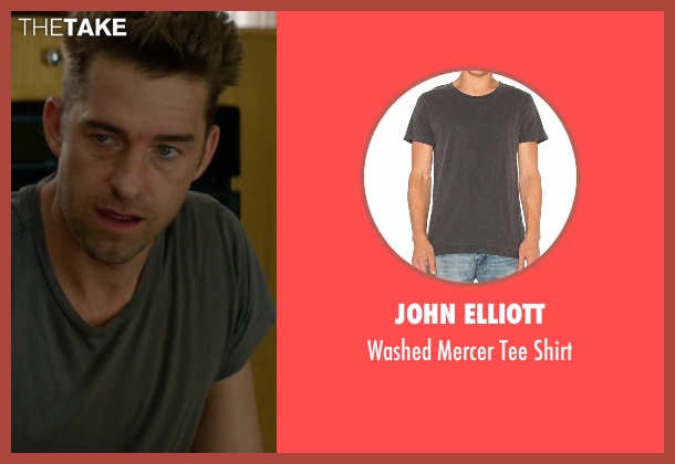 John Elliott gray shirt from Animal Kingdom seen with Barry 'Baz' Brown (Scott Speedman)