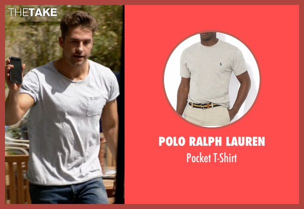 Polo Ralph Lauren gray t-shirt from Animal Kingdom seen with Barry 'Baz' Brown (Scott Speedman)