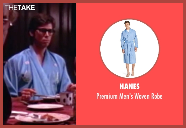 Hanes blue robe from The Rocky Horror Picture Show seen with Barry Bostwick (Brad Majors)