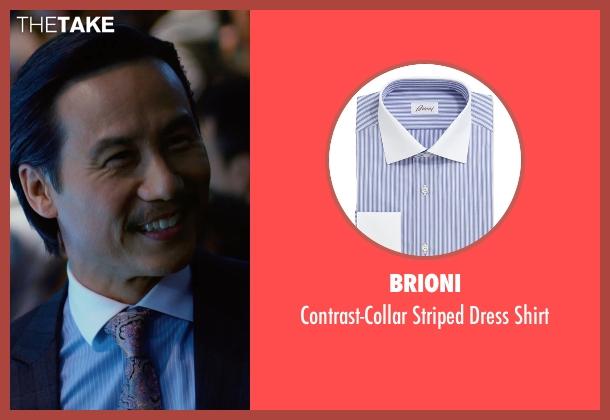 Brioni blue shirt from Focus seen with BD Wong (Liyuan)